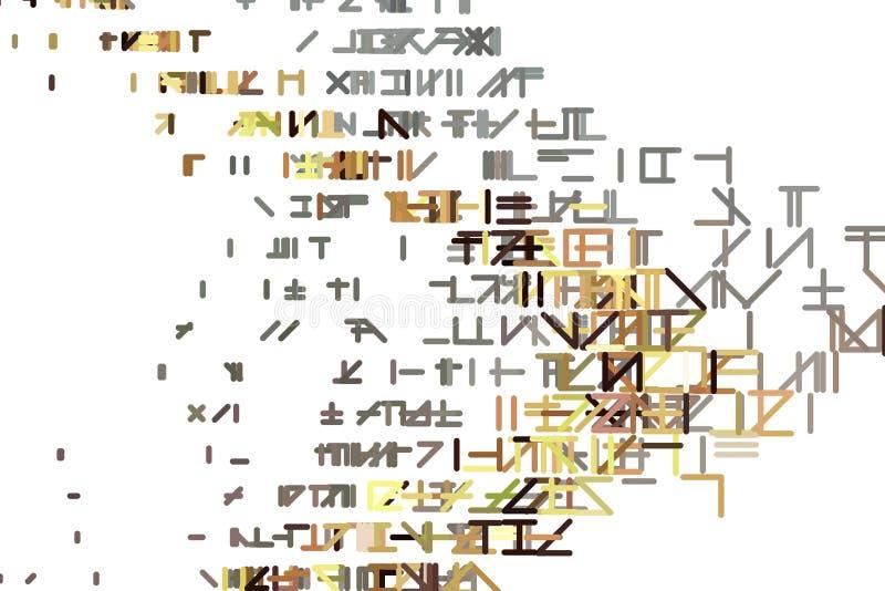 Abstrakter Linien- oder Formillustrationshintergrund Dekoration, Zeichnung, Muster u. Abdeckung vektor abbildung