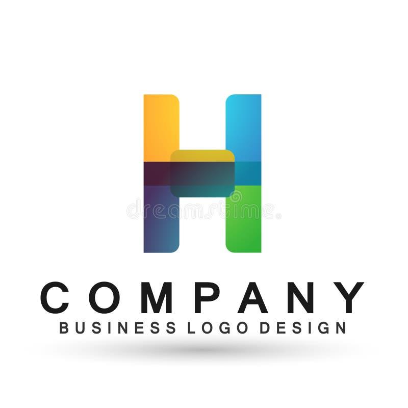 Abstrakter Logo-Entwurfsvektor des Buchstaben H im Element für Firma auf weißem Hintergrund vektor abbildung
