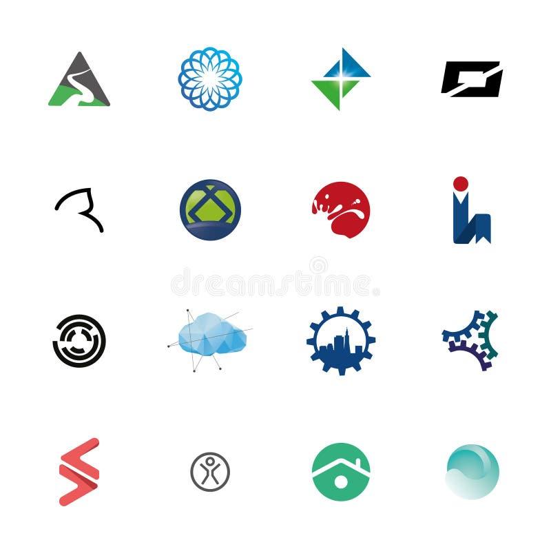 Abstrakter Logo Icon Set Collection lizenzfreie stockfotos
