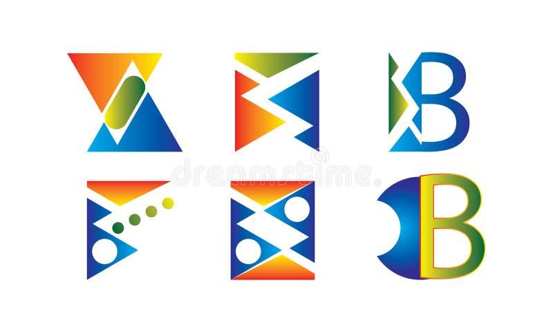 Abstrakter Logo Icons Design Vector - Creative Company Logo Template lizenzfreie abbildung