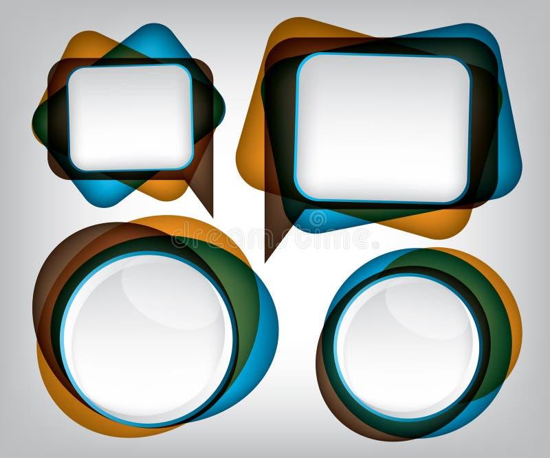 Abstrakter Luftblasensprachehintergrund vektor abbildung