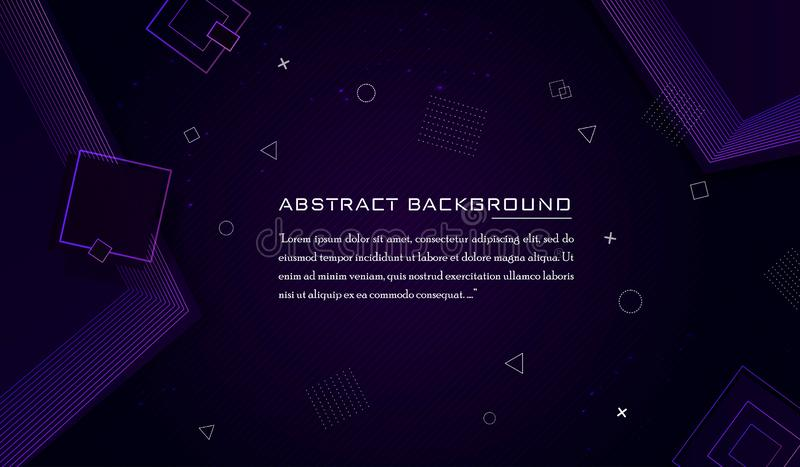 Abstrakter Luxus- und moderner geometrischer Hintergrund lizenzfreie abbildung