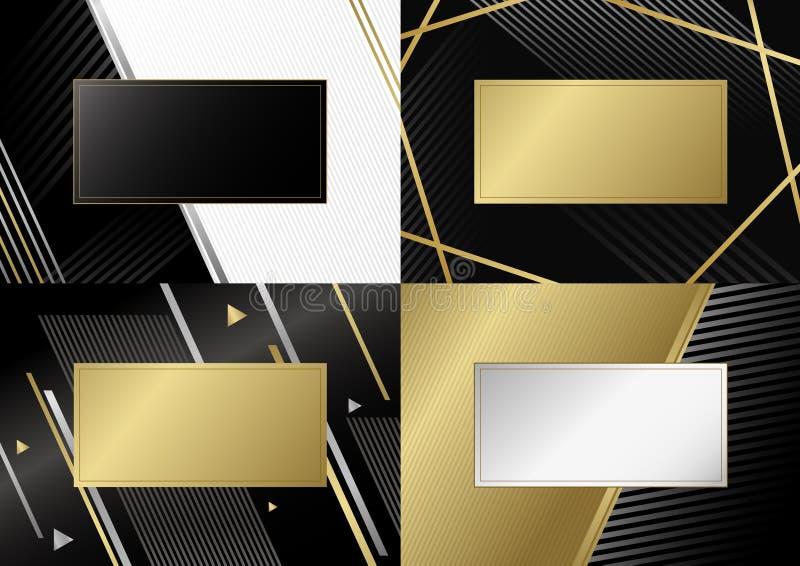 Abstrakter Luxushintergrundentwurf der Linie Vektorillustration stock abbildung