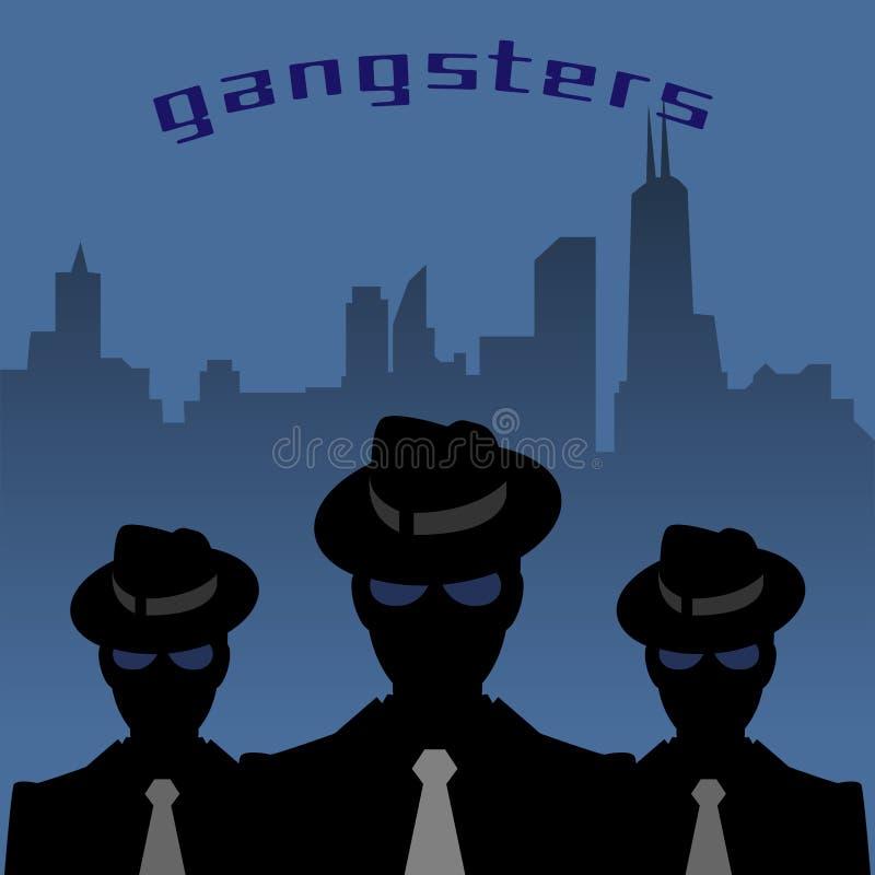 Abstrakter Mafia- oder Gangsterhintergrund lizenzfreie abbildung
