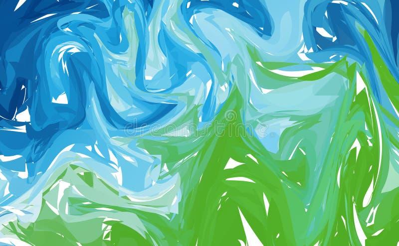 abstrakter Marmorhintergrund Bunte Farbe flüssige wawes vektor abbildung