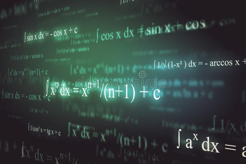 Abstrakter Mathehintergrund stock abbildung