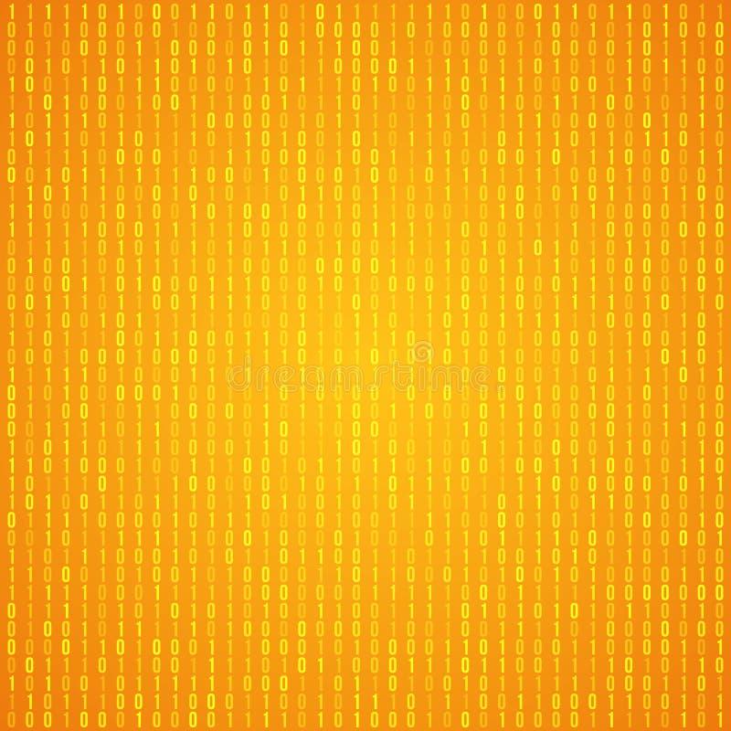 Abstrakter Matrix-Vektor-Hintergrund stock abbildung