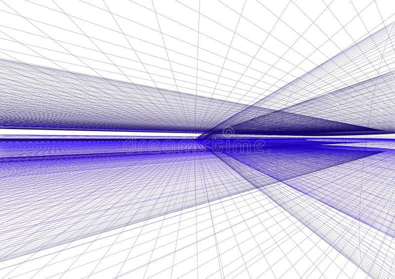Abstrakter Matrixhintergrund stock abbildung