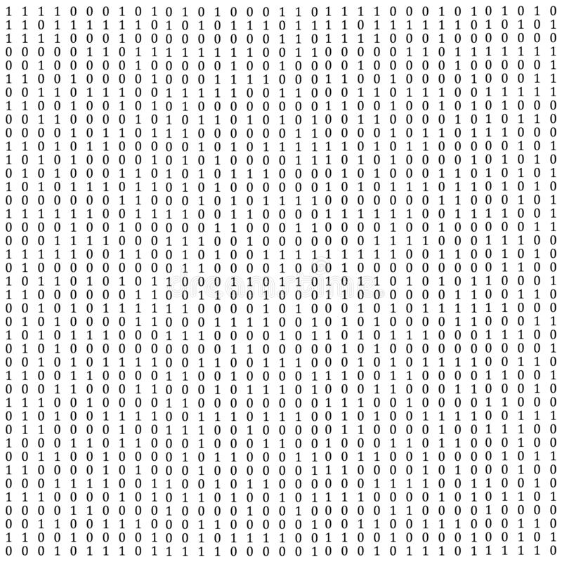 Abstrakter Matrixhintergrund Binärer Computercode kodierung Hackerkonzept Sehen Sie meine Galerie für mehr lizenzfreie abbildung