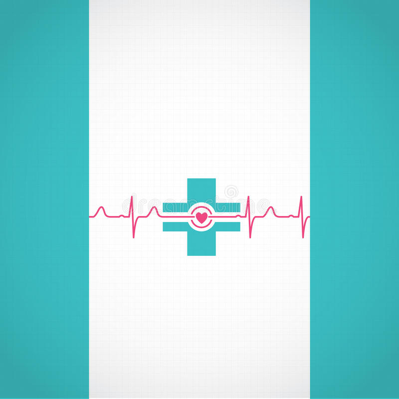 Abstrakter medizinischer Kardiologie ekg Hintergrund vektor abbildung