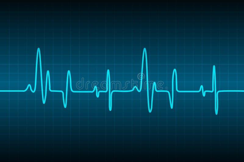 Abstrakter medizinischer Kardiologie ekg Hintergrund, medizinischer abstrakter Hintergrund, ecg Hintergrund stock abbildung