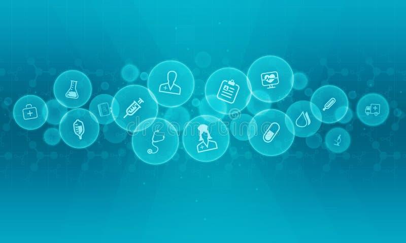 Abstrakter medizinischer und Wissenschaftshintergrund stock abbildung