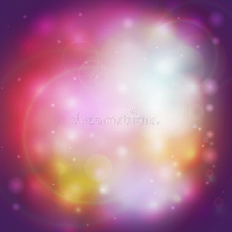 Abstrakter mehrfarbiger defocused Lichthintergrund stock abbildung