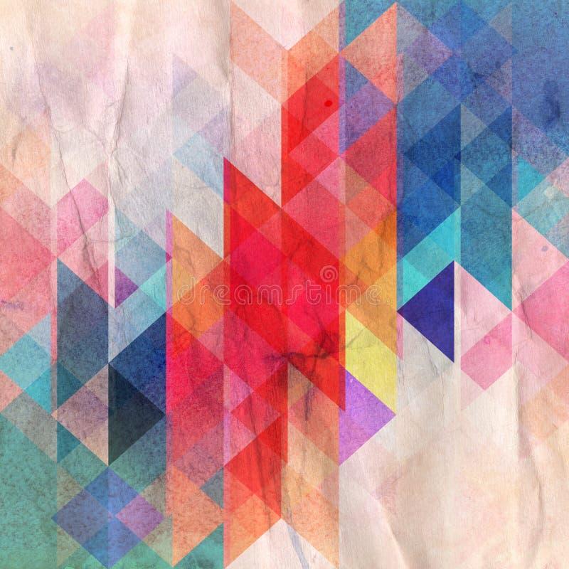 Abstrakter mehrfarbiger geometrischer Hintergrund lizenzfreie abbildung