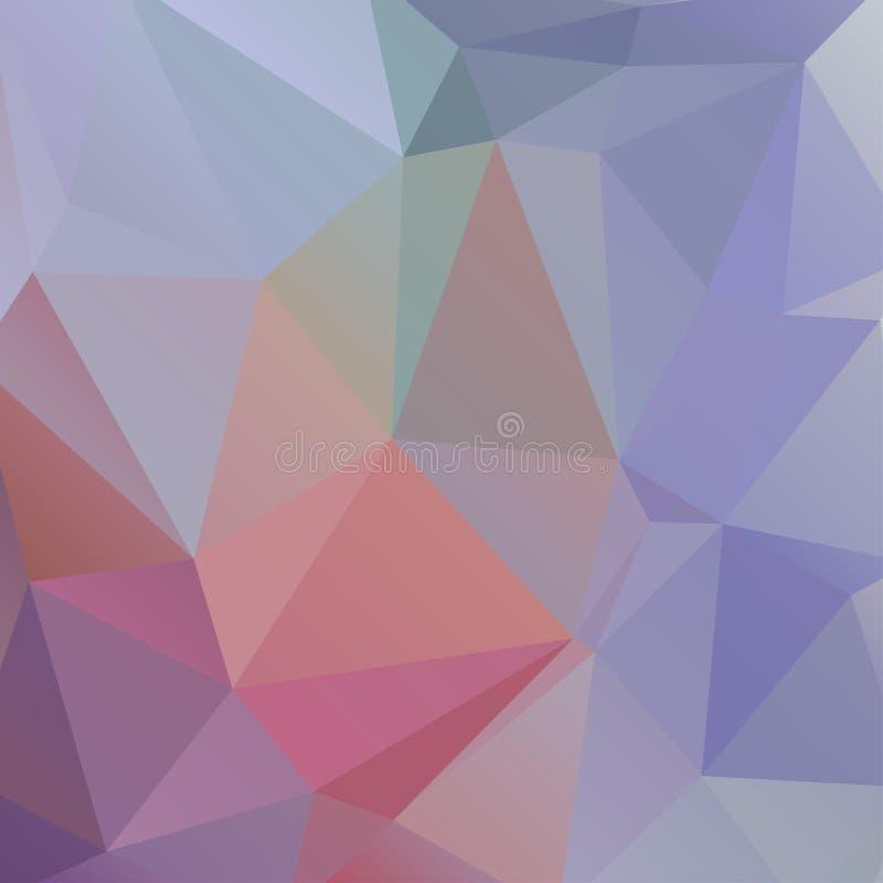 Abstrakter mehrfarbiger polygonaler Hintergrund lizenzfreie abbildung