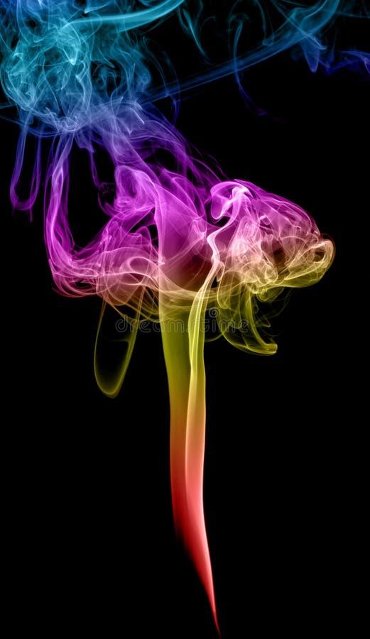 Abstrakter mehrfarbiger Rauch stockbilder