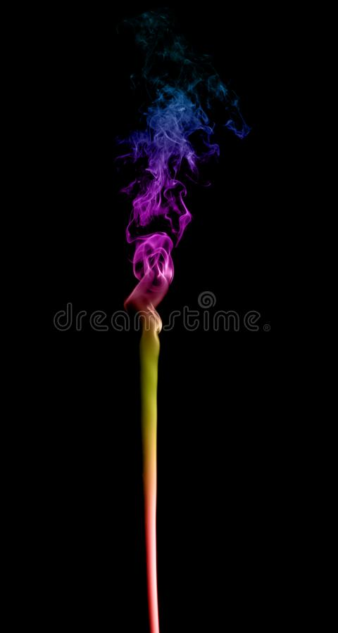 Abstrakter mehrfarbiger Rauch stockbild