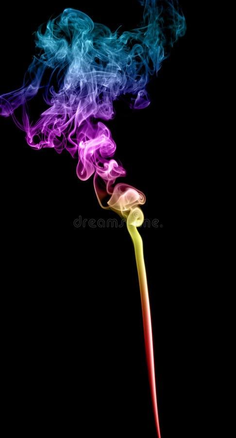 Abstrakter mehrfarbiger Rauch stockfotografie