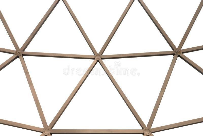 Abstrakter Metalldachstuhl und Hintergrund lizenzfreies stockbild