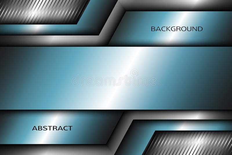 Abstrakter Metallhintergrund mit Türkiselementen lizenzfreie abbildung