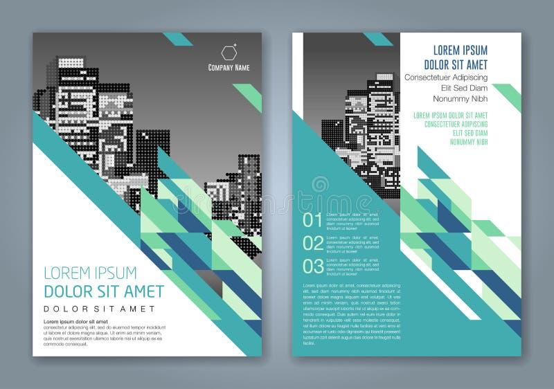 Abstrakter minimaler geometrischer Formpolygon-Designhintergrund für Geschäftsjahresbericht-Bucheinband lizenzfreie stockbilder