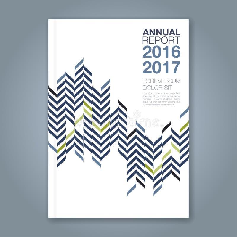 Abstrakter minimaler geometrischer zigzig Designhintergrund für Geschäftsjahresbericht-Bucheinband vektor abbildung