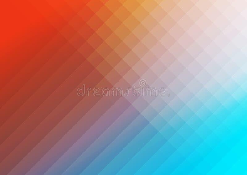 Abstrakter minimaler Hintergrund der Technologie mit Quadraten lizenzfreie abbildung