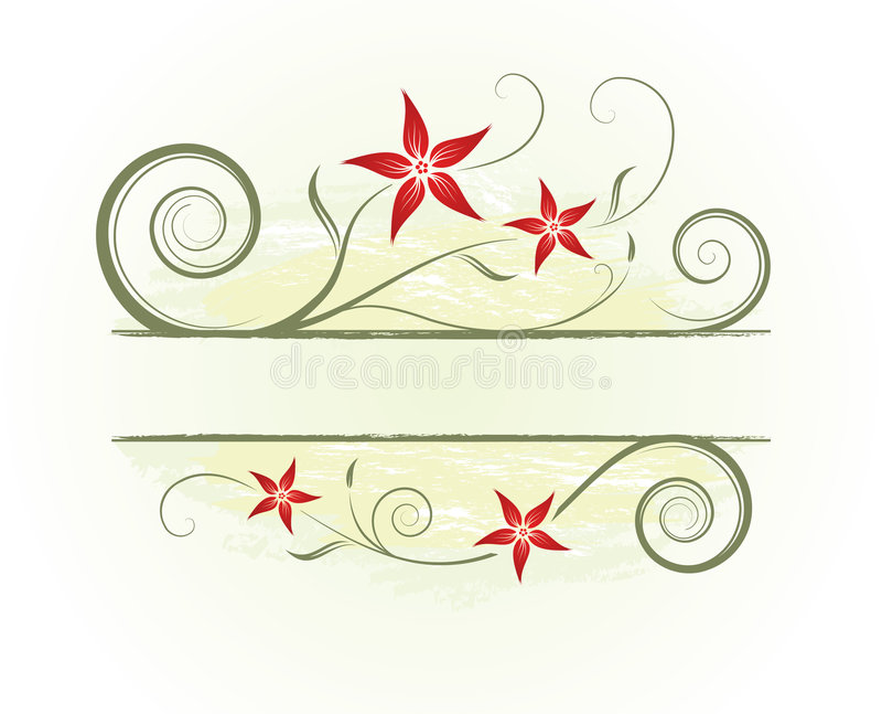 Abstrakter mit Blumenhintergrund lizenzfreie abbildung