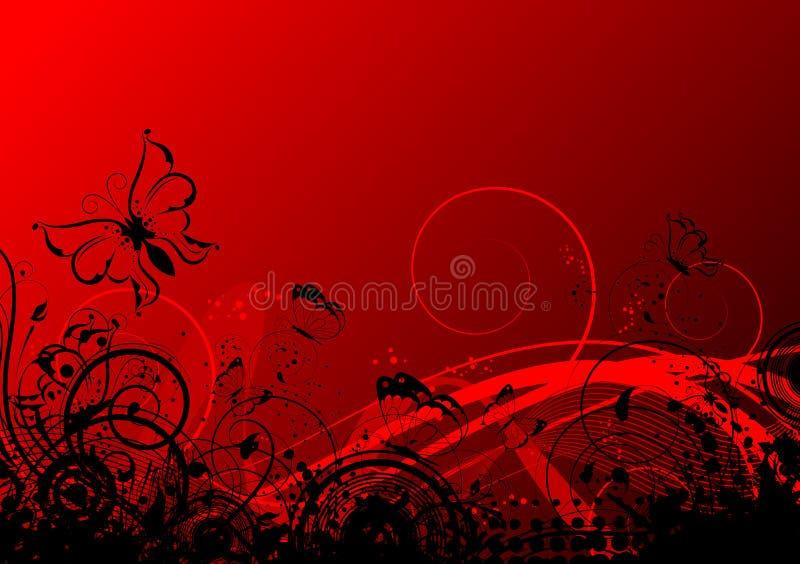Abstrakter mit Blumenhintergrund mit Basisrecheneinheiten vektor abbildung