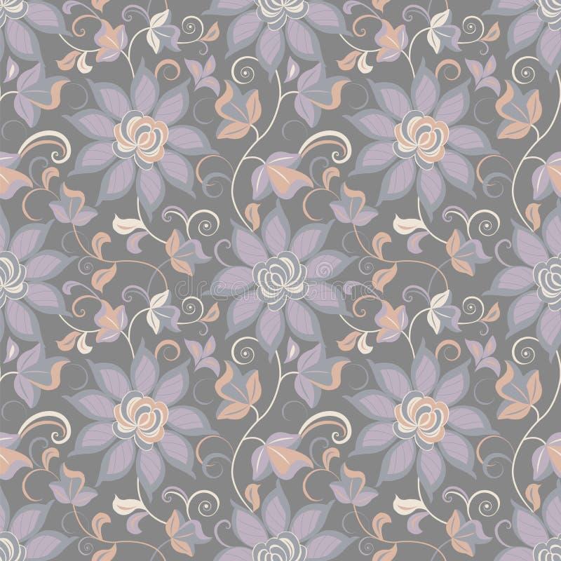 Abstrakter mit Blumenhintergrund, nahtlos lizenzfreie abbildung