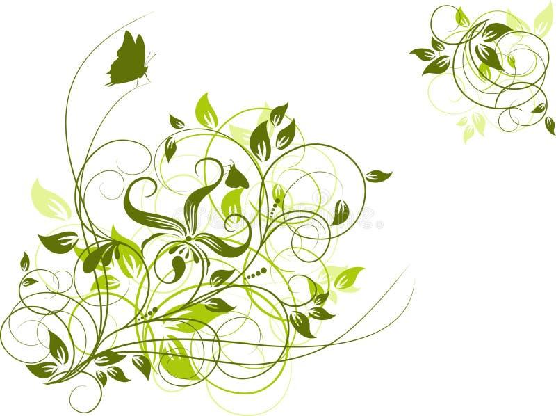 Abstrakter mit Blumenhintergrund, Vektor lizenzfreie abbildung