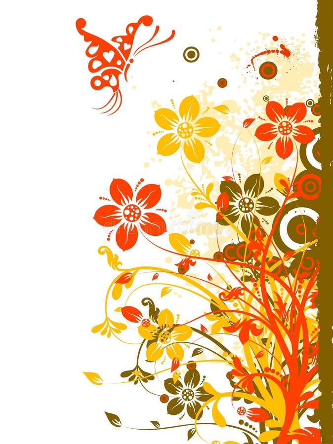 Abstrakter mit Blumenhintergrund, Vektor vektor abbildung