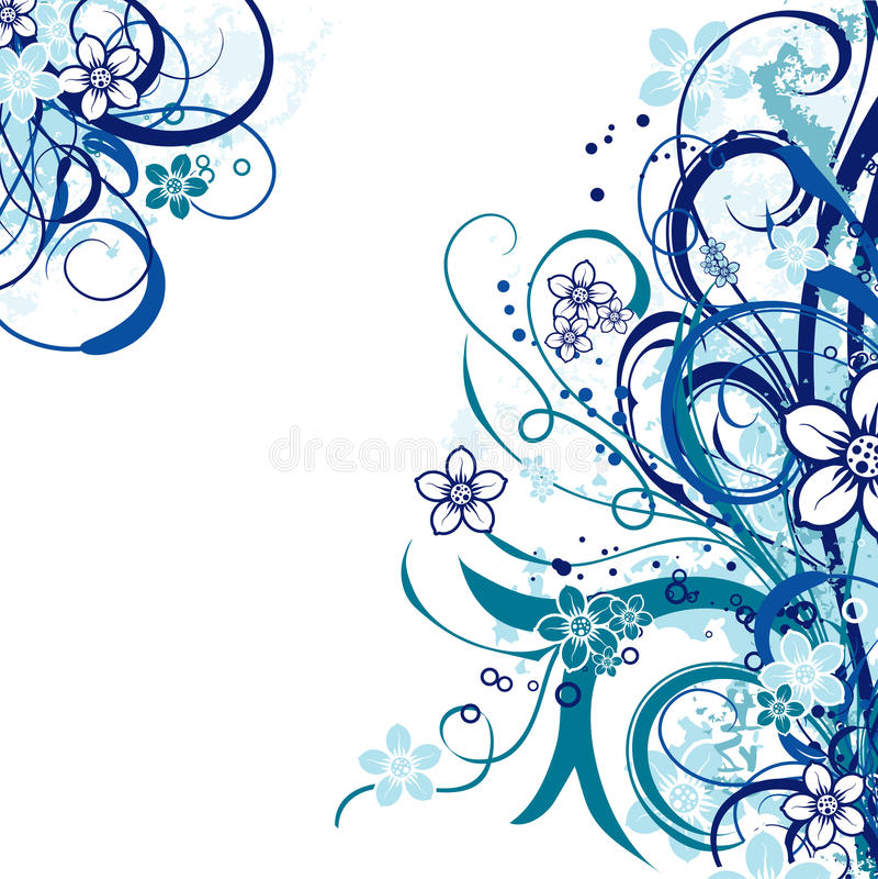 Abstrakter mit Blumenhintergrund, Vektor stock abbildung