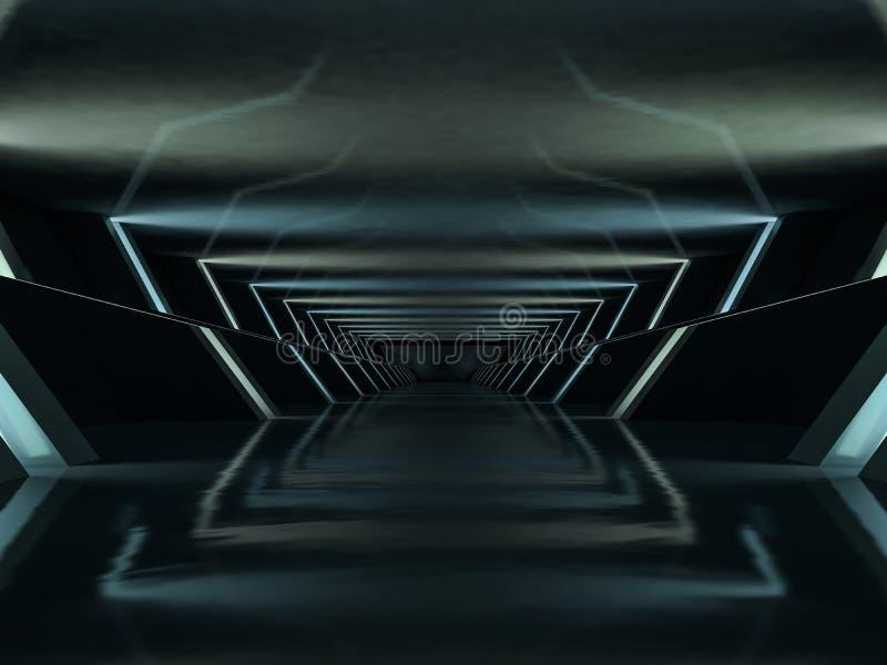 Abstrakter moderner Architekturhintergrund Wiedergabe 3d vektor abbildung