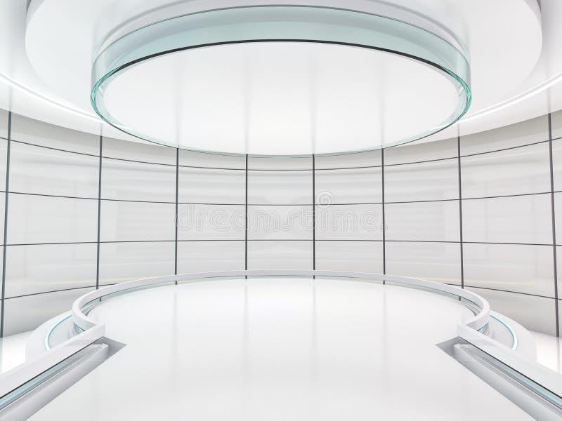 Abstrakter moderner Architekturhintergrund Wiedergabe 3d stock abbildung