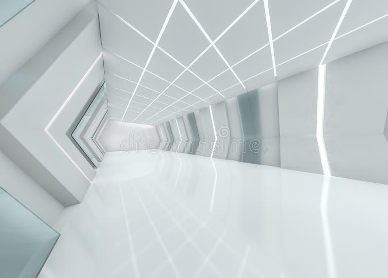 Abstrakter moderner Architekturhintergrund Wiedergabe 3d lizenzfreie abbildung