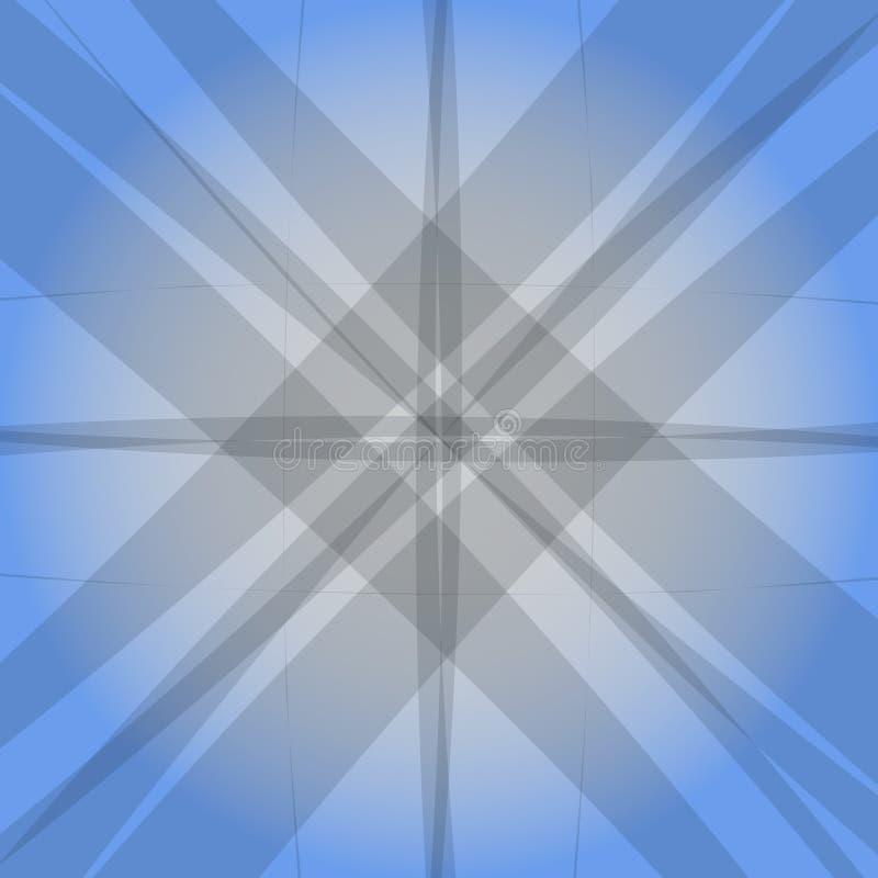 Abstrakter moderner blauer Hintergrund Graue Zeilen lizenzfreie abbildung