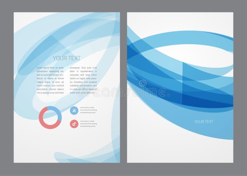 Abstrakter moderner heller blauer Flieger lizenzfreie abbildung