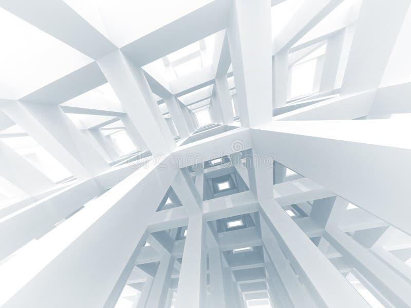 abstrakter moderner Hintergrund der Architektur 3d vektor abbildung