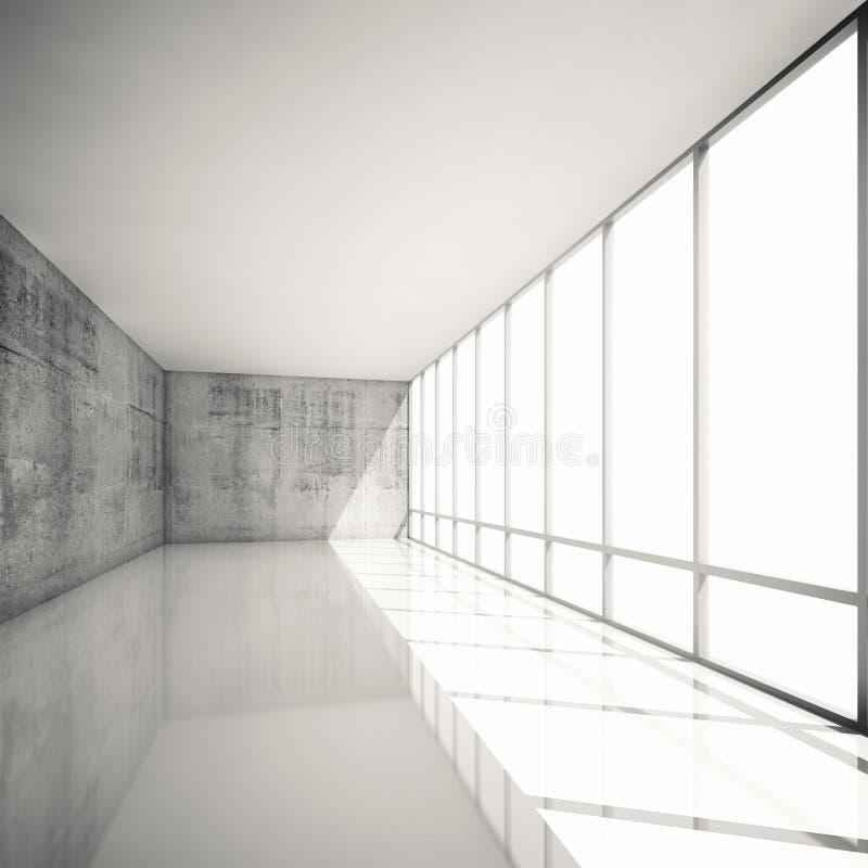 Abstrakter moderner Hintergrund der Architektur 3d, leerer Innenraum vektor abbildung