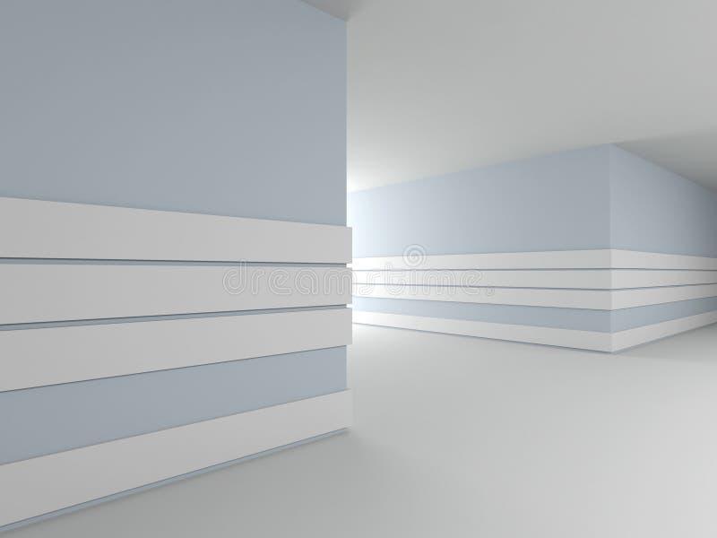 Abstrakter moderner Innenraum. 3D. lizenzfreie abbildung