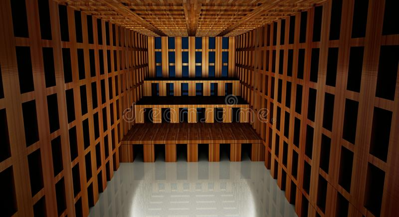 abstrakter moderner Innenraum der Architektur 3d vektor abbildung