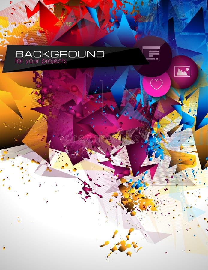 Abstrakter moderner poligonal Hintergrund für Broschüre lizenzfreie abbildung
