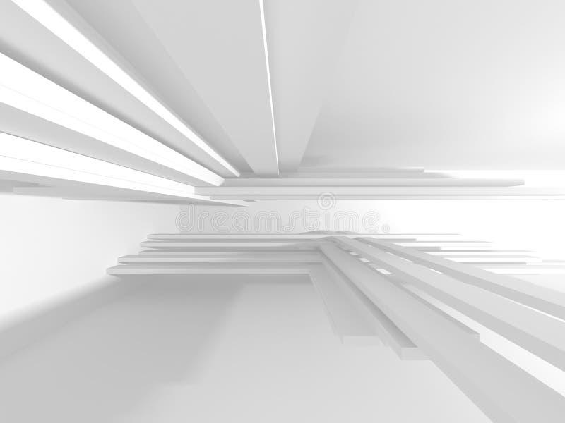 Abstrakter moderner weißer Architektur-Hintergrund lizenzfreie abbildung