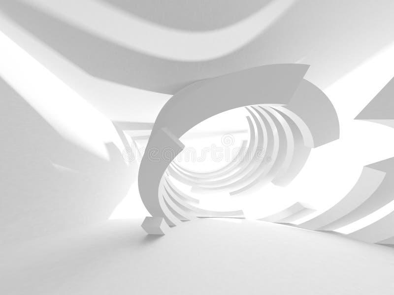 Abstrakter moderner weißer Architektur-Hintergrund vektor abbildung