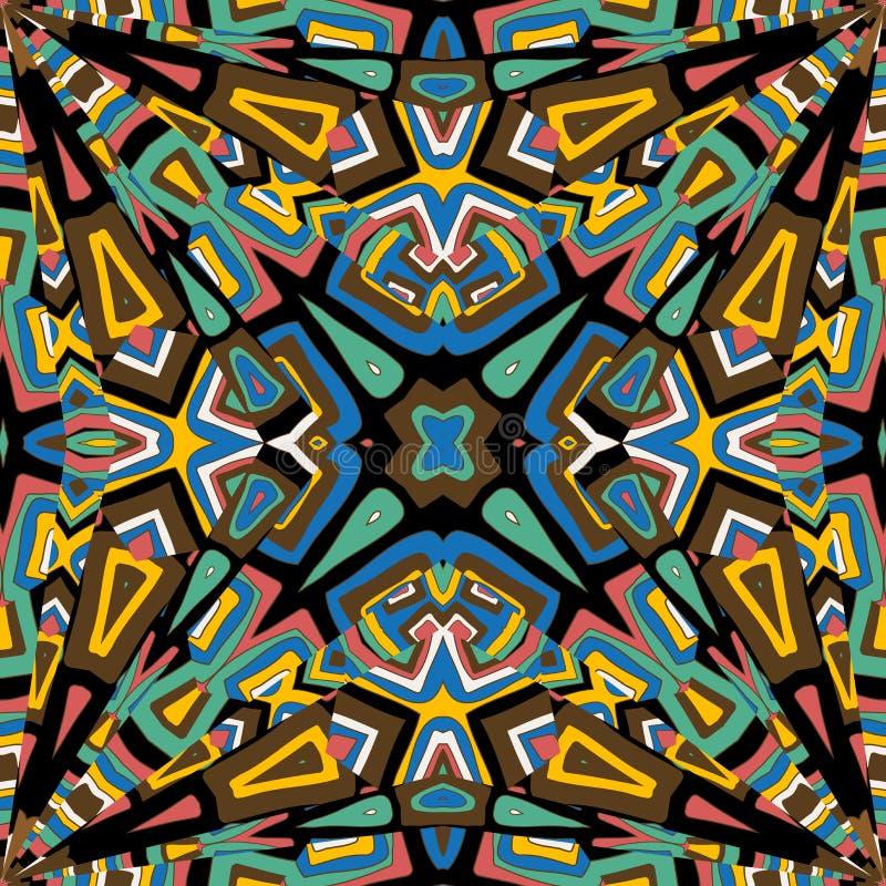 Abstrakter Mosaik Kaleidoskophintergrund vektor abbildung
