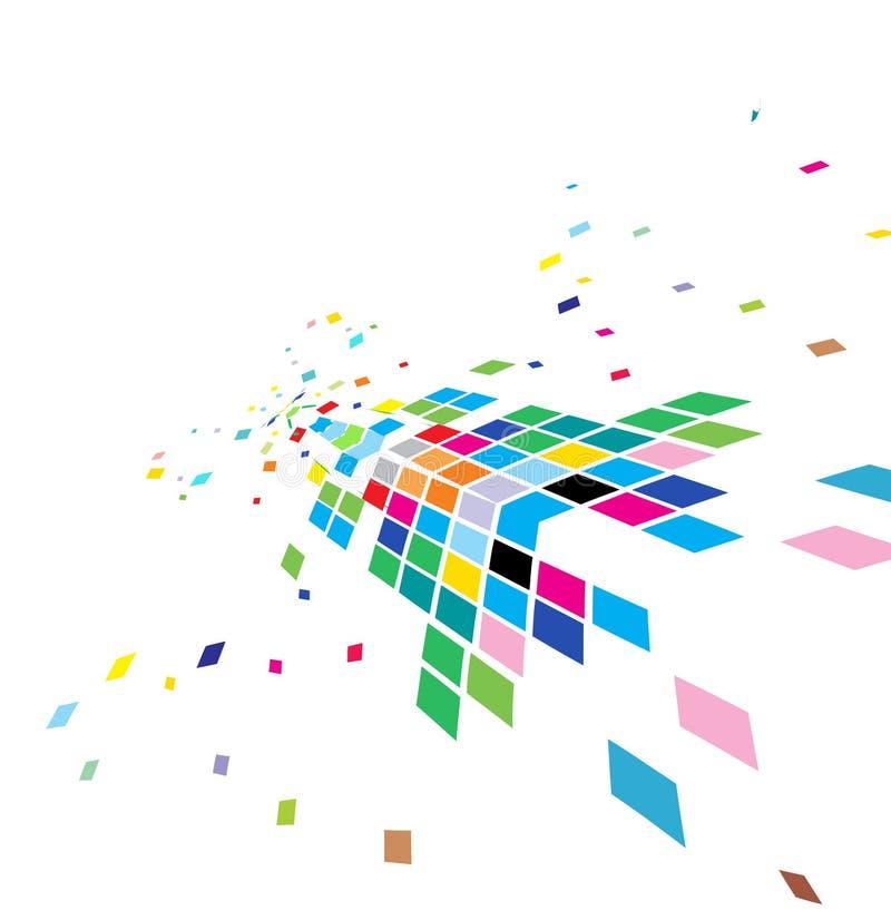 Abstrakter Mosaikaufbau lizenzfreie abbildung