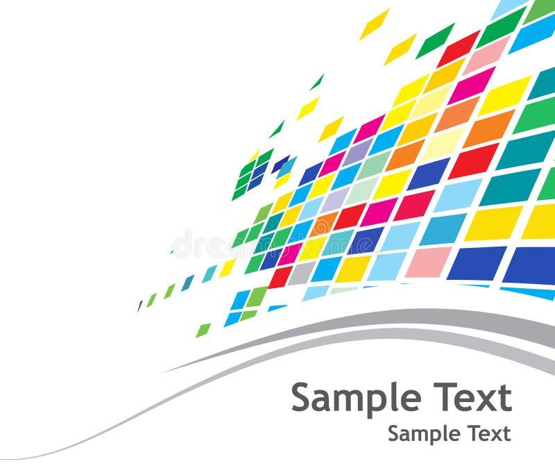 Abstrakter Mosaikhintergrund lizenzfreie abbildung