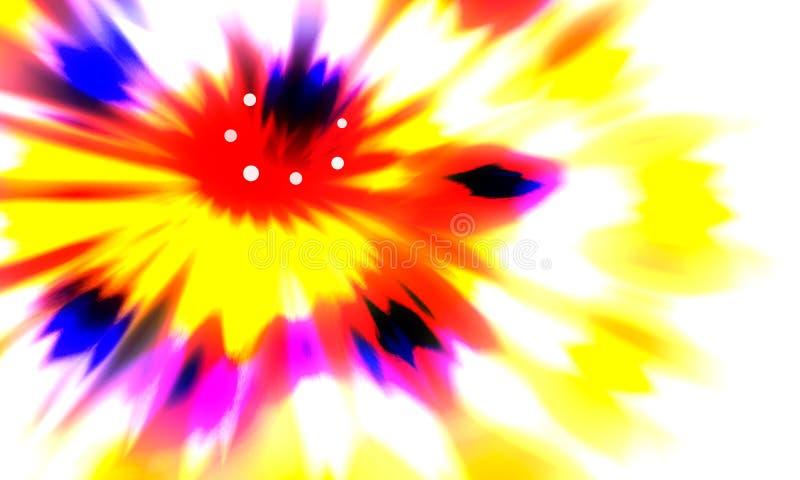 Abstrakter multi farbiger Hintergrund Helle abstrakte Blume lizenzfreie abbildung