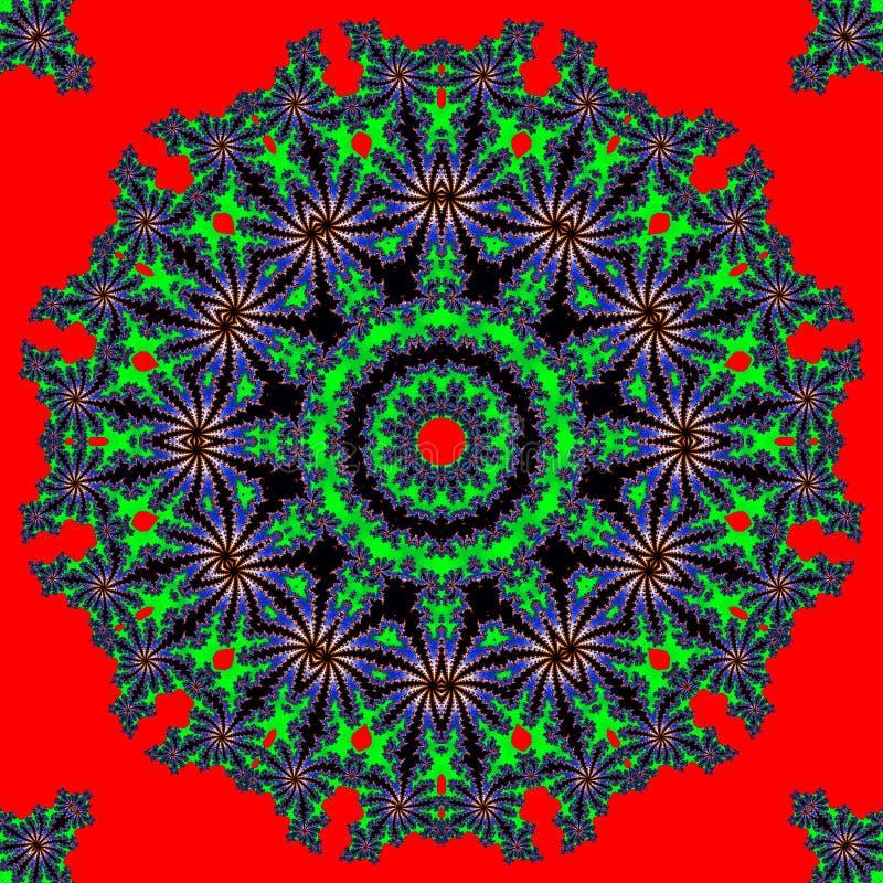 Abstrakter multifinal Stern mit Mustern. stock abbildung